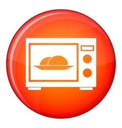 Microwave icon flat style vector