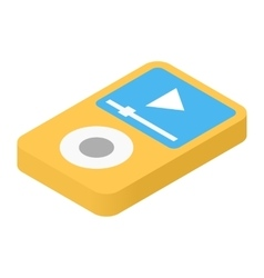 Music player isometric 3d icon vector
