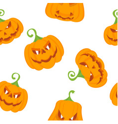 pattern color pumpkins vector image vector image