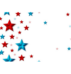 red and blue shiny stars abstract background vector image vector image
