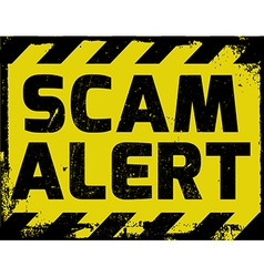 Scam alert sign vector
