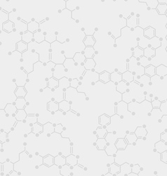 Seamless molecule background vector