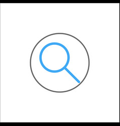 search filled icon mobile sign and magnifier vector image
