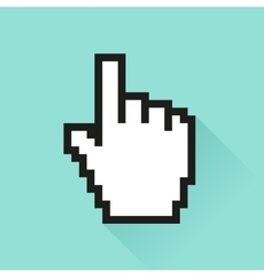 Set of social media icon ursor hand vector image