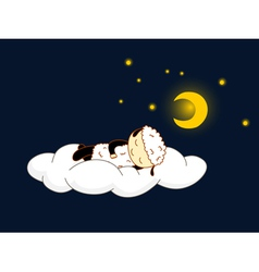 sheep sleeping vector image