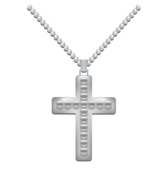 Silver cross vector