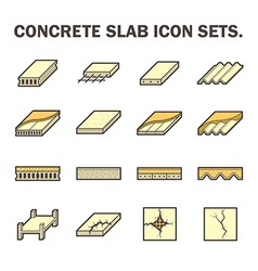 Slab and floor icon vector