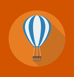 Transportation flat icon hot air balloon vector