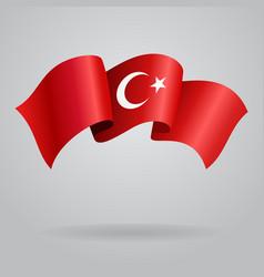 Turkish waving flag vector