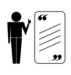 Tutor icon with quote vector
