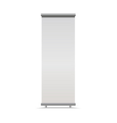 vertical roll-up banner isolated on white vector image