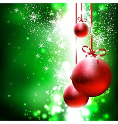 Christmas and New Years background vector image