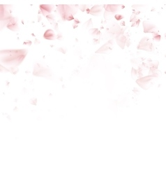 Spring pink flying petals of sakura eps 10 vector