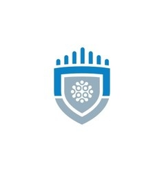 Shield Logo Template Design vector image