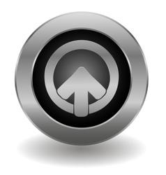 Metallic login button vector image