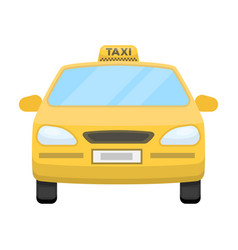 yellow taxi cartransport taxis for passengers vector image