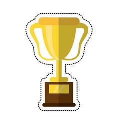 cartoon trophy award sport icon vector image
