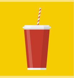 Soda paper cup icon vector