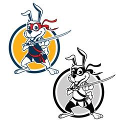 Ninja Rabbit vector image