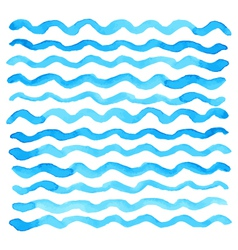 Watercolor wave pattern vector