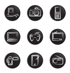 Electronic object icon vector