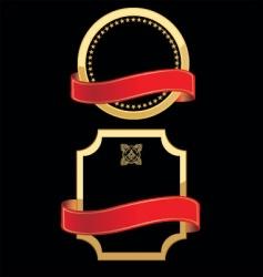 Gold metallic labels vector
