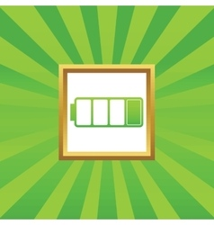 Low battery picture icon vector