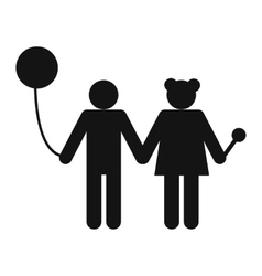 Girl and boy icon vector