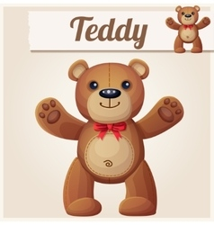 Teddy bear love hugs vector