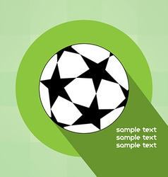 Champions league ball with starts vector