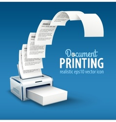 Printer printing copies of text vector