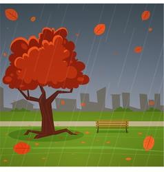 Autumn park vector