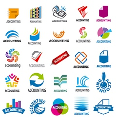 Biggest collection of logos accounting report vector