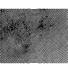Black concentric circles grungy vector