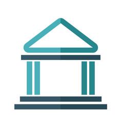 Building bank safe money financial symbol vector