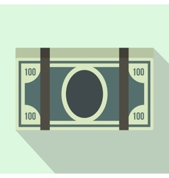 Bundle of dollars icon flat style vector