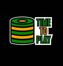 casino poker logo template gambling bet chips vector image vector image