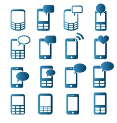 Cell phones icons vector