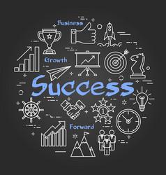 chalk board concept - success vector image vector image