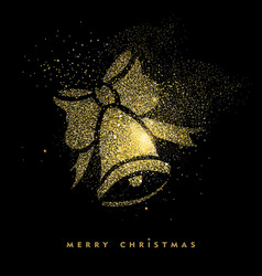 christmas gold glitter holiday decoration card vector image vector image