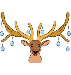 easter deer vector image vector image