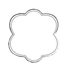 frame decoration emblem vector image