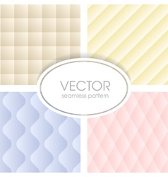 Geometrical seamless pattern collection vector image