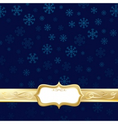 gold Christmas vector image vector image