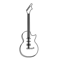 guitar electric instrument isolated icon vector image vector image