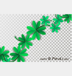 Happy st patricks day greetings card four and vector