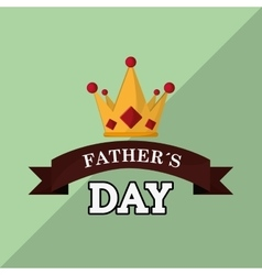 Icon of fathers day design vector image