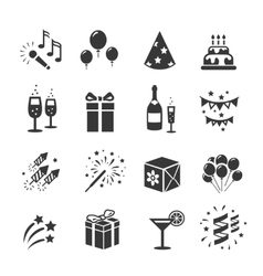 Icons set birthday and celebration vector