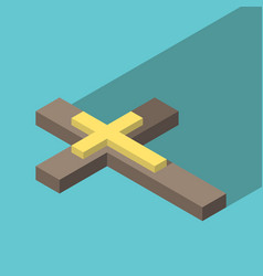 Isometric christian cross vector