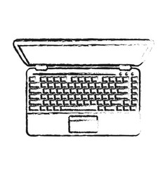 laptop computer topview icon imag vector image